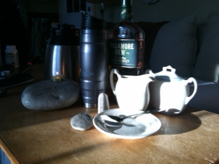 St. Patrick's day morning with coffee, creame and Tullamore Dew