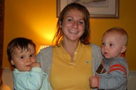 Jessie with brother, Eli, and cousin