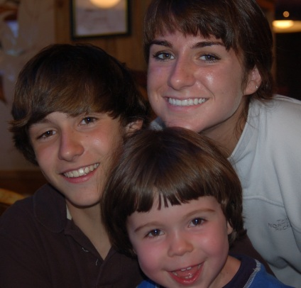 Jessie with brothers, Pete and Eli