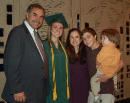 The Smith family at Jessie's graduation