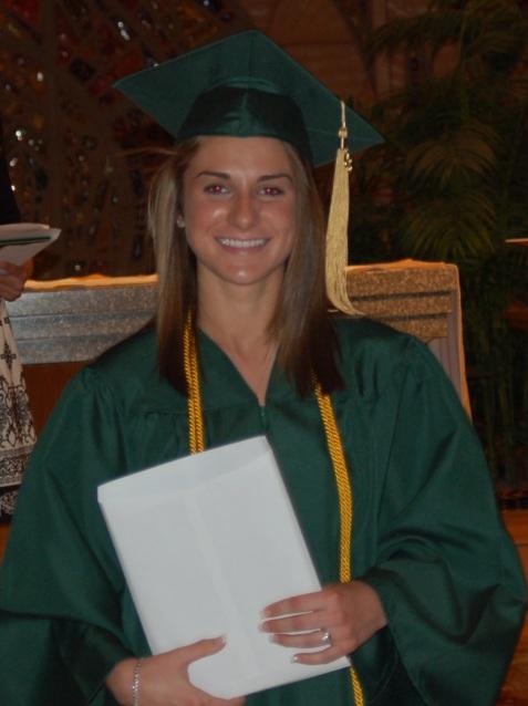 Jessie's high school graduation at Seton La Salle, class of 2008