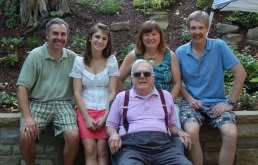 Jessie with her dad, her aunt Vicki Shuttleworth, her godfather, Bill Powell, and her grandfather, Jim Smith.