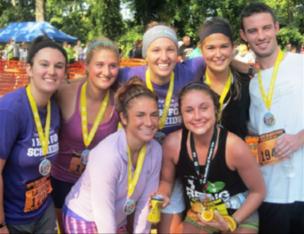 Jessie and friends after the Erie Marathon