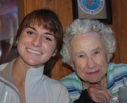 Jessie with grandmother, Coletta Ansberry