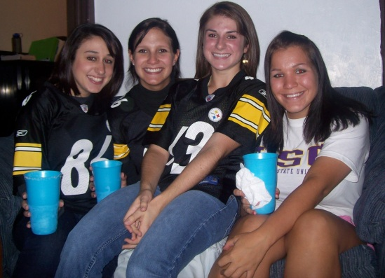 Jessie and sorority sisters, Amanda, Rachel and Ami