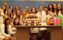 Jessie and sorority sisters at initiation