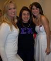 Jessie and sorority sisters, Amanda and Courtney