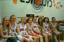 Jessie and grade school basketball team