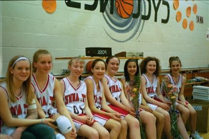 Jessie and grade school basketball team