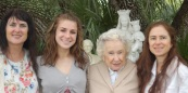 Jessie with Micki (aunt), Coletta (grandmother), and Clare (mother)