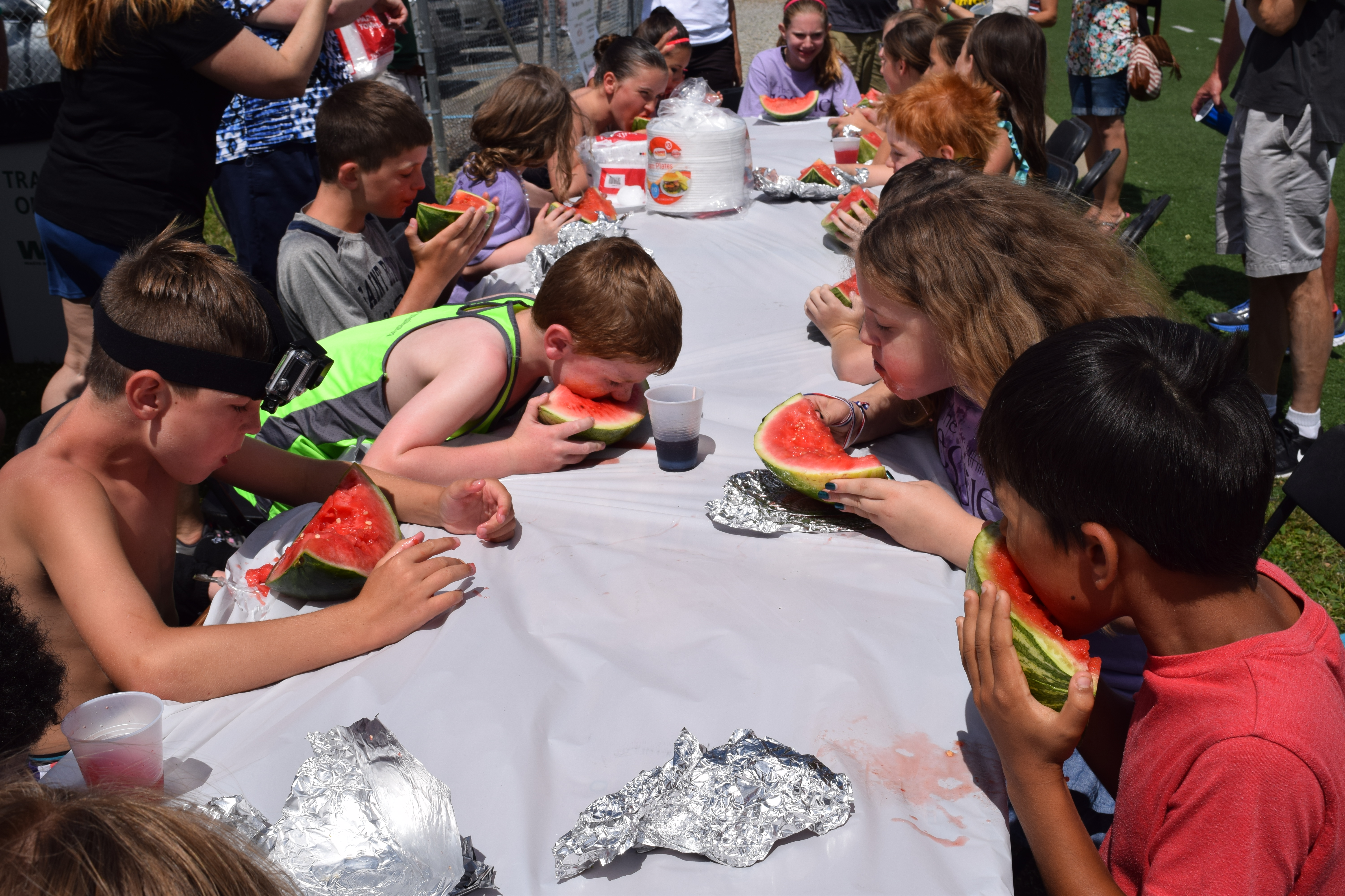 Digging into the watermelon at the 2016 Jessie Games
