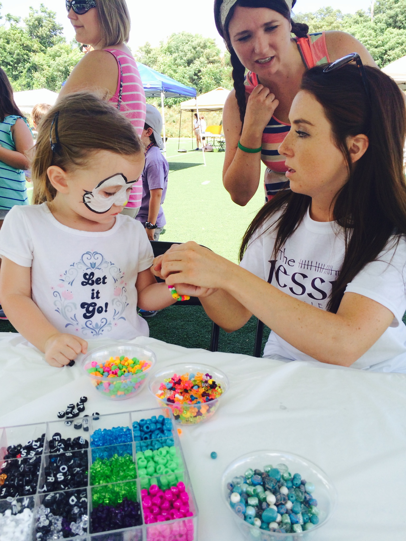 Making Jewelry at the 2016 Jessie Games